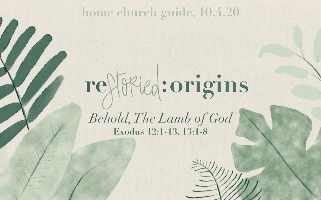Home Church Guide, 10.4.20 | Restoried Origins | Behold The Lamb Of God