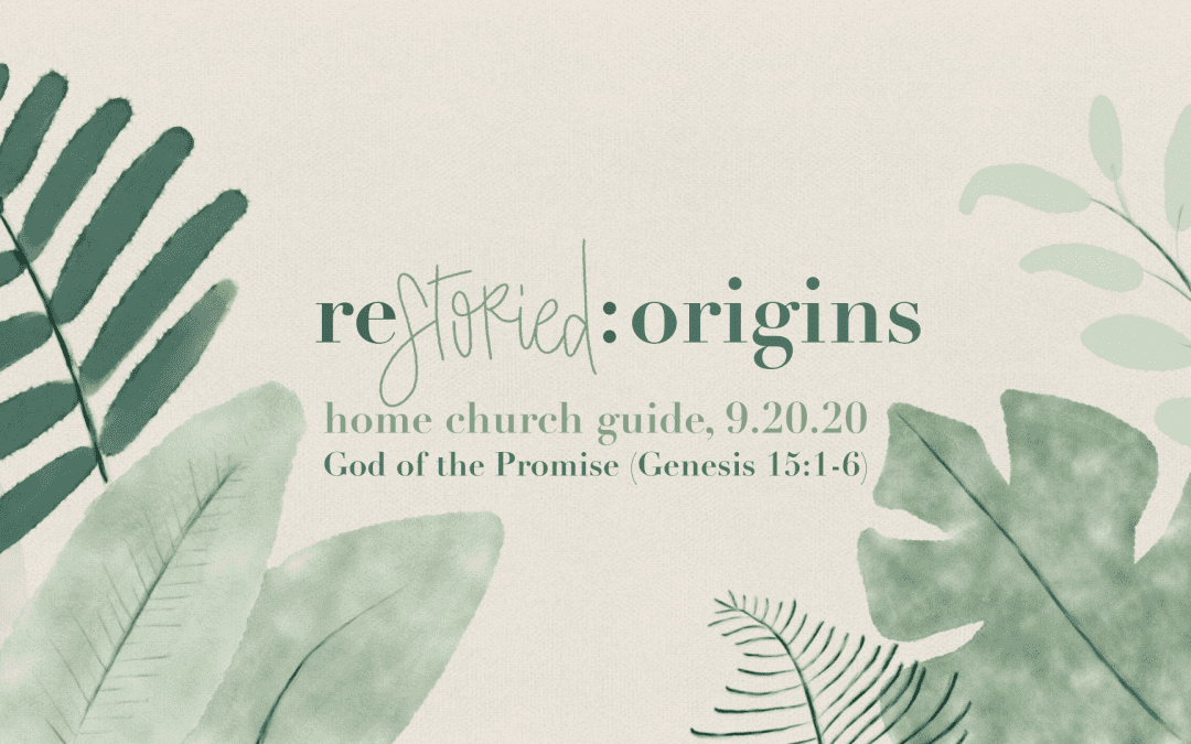Home Church Guide, 9.20.20 | Restoried: Origins | God of the Promise